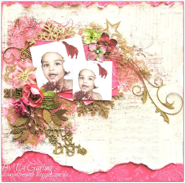Created by Di Garling for Scrap Around the World December 2015. # 2Crafty Chipboard.