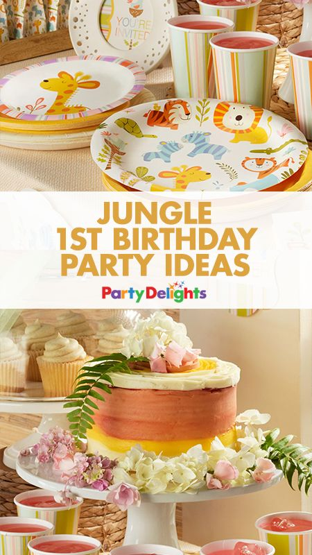 Planning your child's 1st birthday party? Get all the inspiration you need for a cute jungle-themed party. Our jungle party ideas include decorations, party food ideas and more.