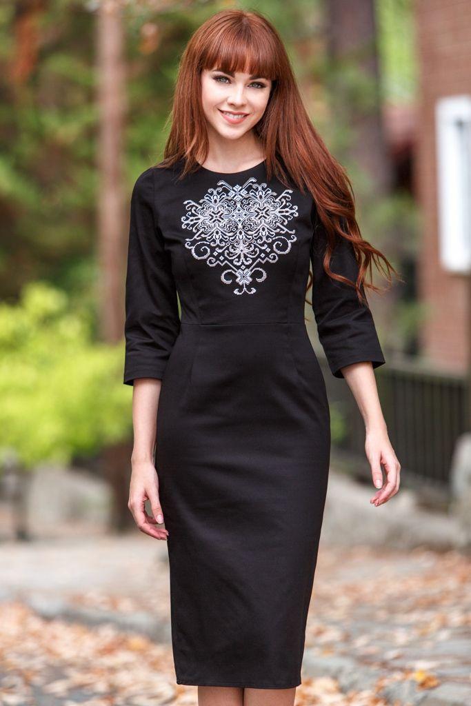 Платье с вышивкой - Vilenna