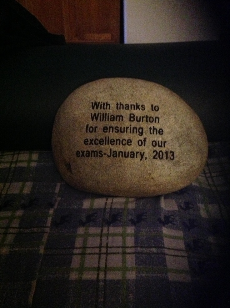 The back engraving on my stone from