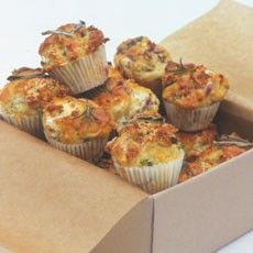 Savoury Mini Muffins with Two Flavourings