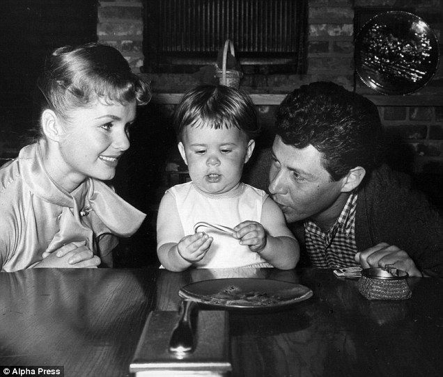 Carrie (above center in 1956) and Todd Fisher's parents were Debbie Reynolds and Eddie Fisher - but her father left not long after this picture to marry Elizabeth Taylor, a scandal which rocked Hollywood