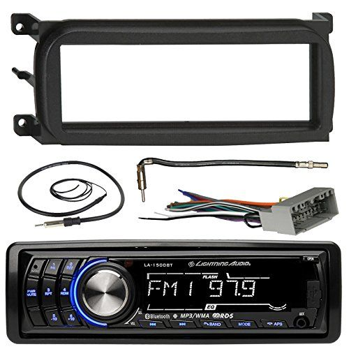 Lightning Audio LA1500BT Bluetooth InDash Car Stereo Receiver Bundle Combo With Metra Dash Kit  Radio Wiring Harness  Enrock Antenna With Adapter Cable For 1998Up ChryslerDodgeJeep Vehicles >>> Be sure to check out this awesome product.