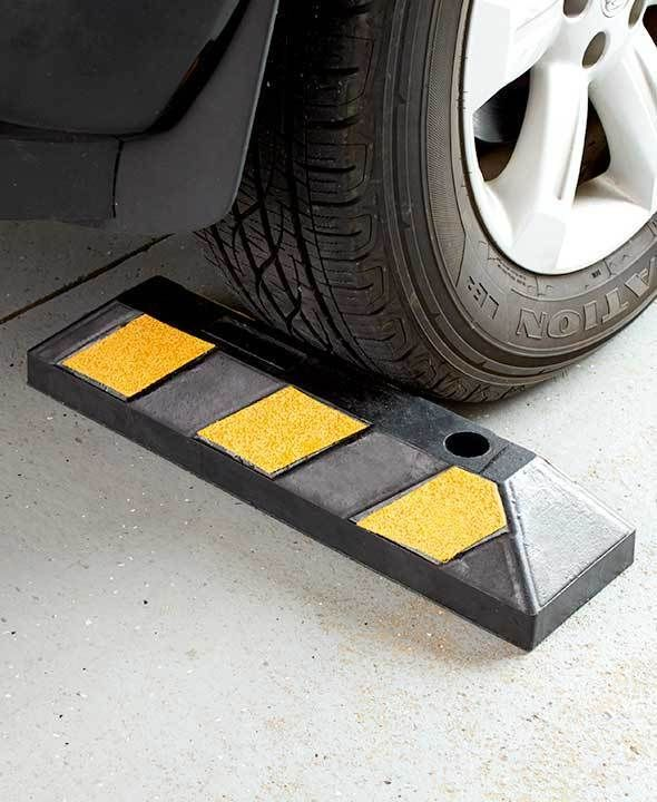 HIGHLY VISABLE RUBBER HEAVY DUTY PARKING CURB PARKING STOP STOPPER FOR GARAGE #TBD