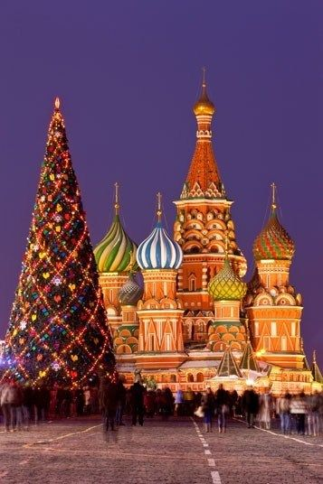 Christmas in Russia - The Russian Orthodox Church still uses the old Julian calendar, so  Christmas celebrations take place 13 days after everyone else, on 7  January. If you're determined to celebrate the festive season twice,  head there now