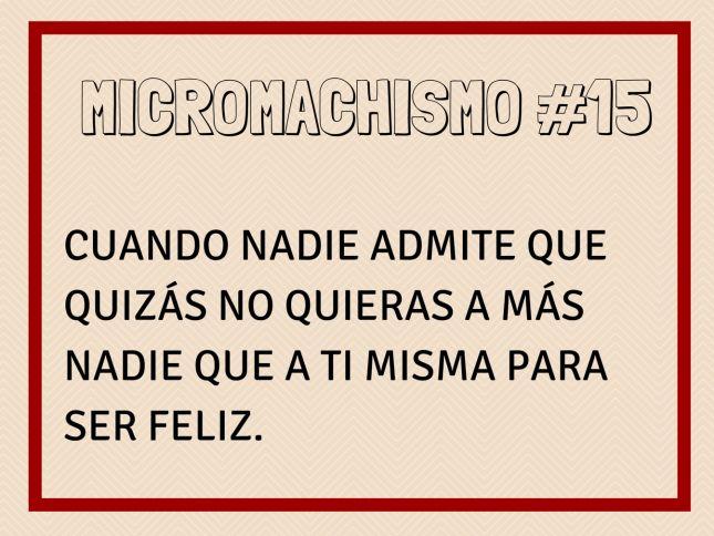 Micromachismo #15