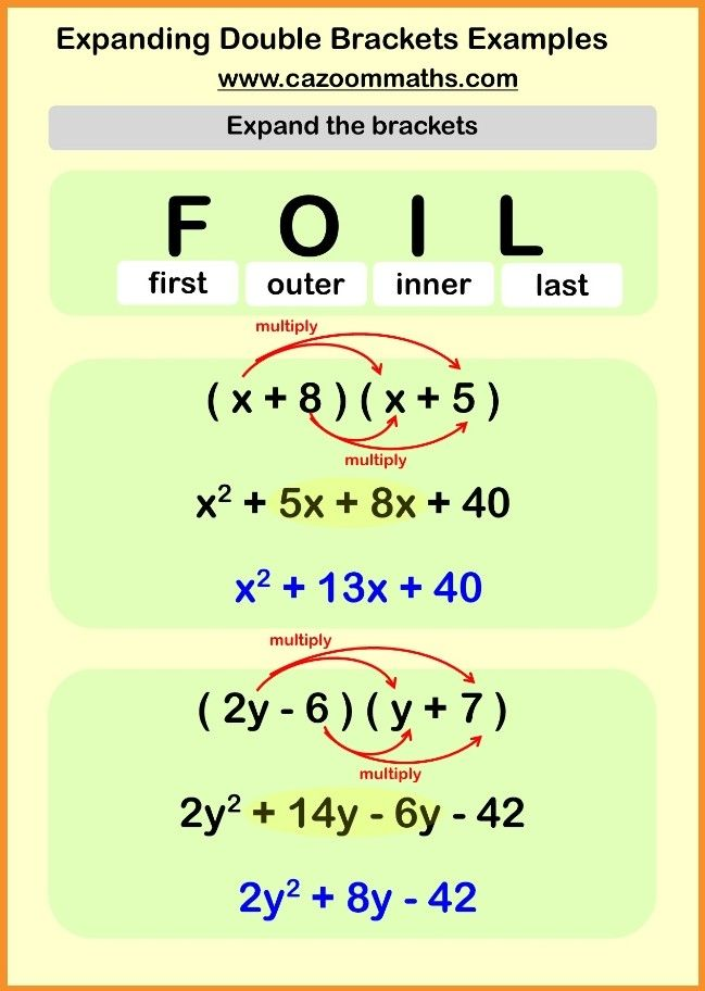 Expanding Factorising With Double Brackets Go Teach Maths 1000s Of Free Resources