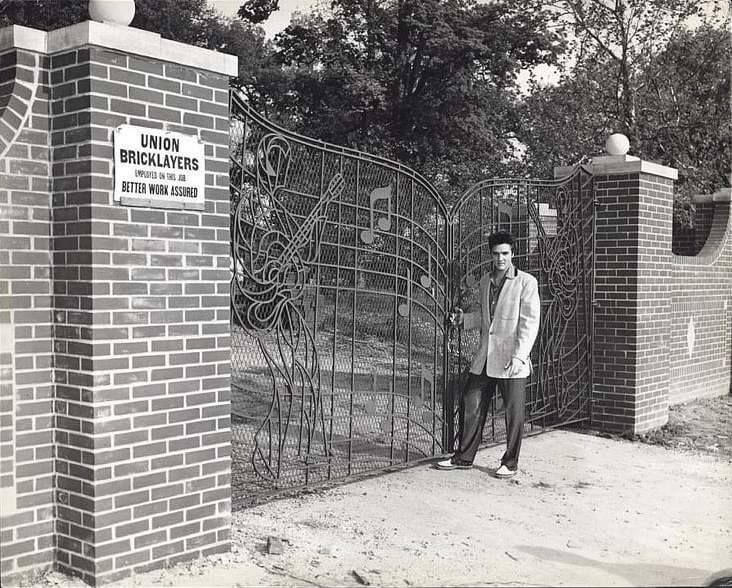 Image result for graceland gates installed april 22 1957