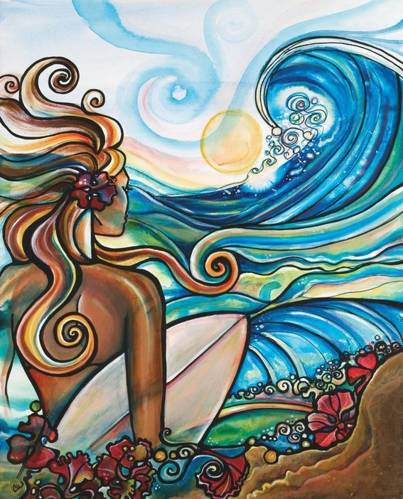 Colleen Wilcox, Hawaii :)  I saw her work in a gallery on the North Shore in Haleiewa, love it!