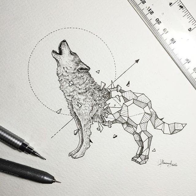 Geometric Beasts | Wolf | Use Instagram online! Websta is the Best Instagram Web Viewer!