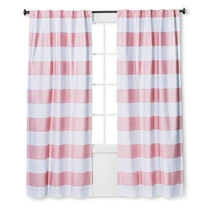 Twill Light Blocking Curtain Panel Stripe - Pillowfort™