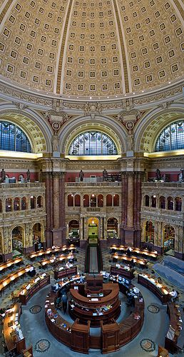 As a GW student, you are able to get a free Library of Congress card, and study in the Main Reading Room! How cool is that?