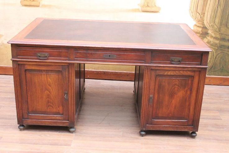 zauberhafter großer antiker Jugendstil Partner-Schreibtisch-ca.1890   eBay