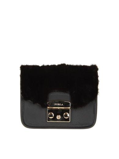 FURLA Furla Metropolis Megamix Black. #furla #bags #shoulder bags #leather #lining #