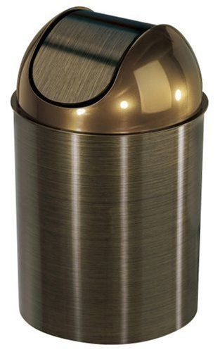 Umbra Mezzo Trash Can Bronze With Lid Umbra Http