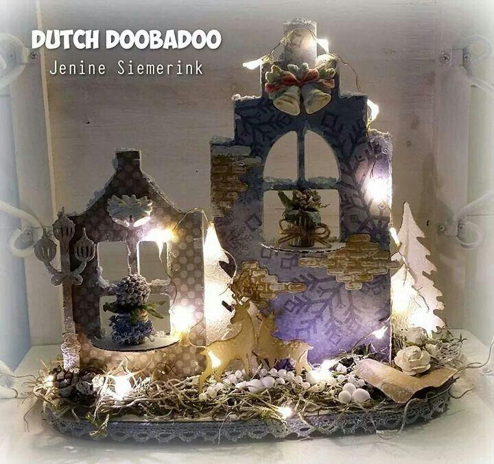 Dutch Doobadoo Shape Art Huisjes