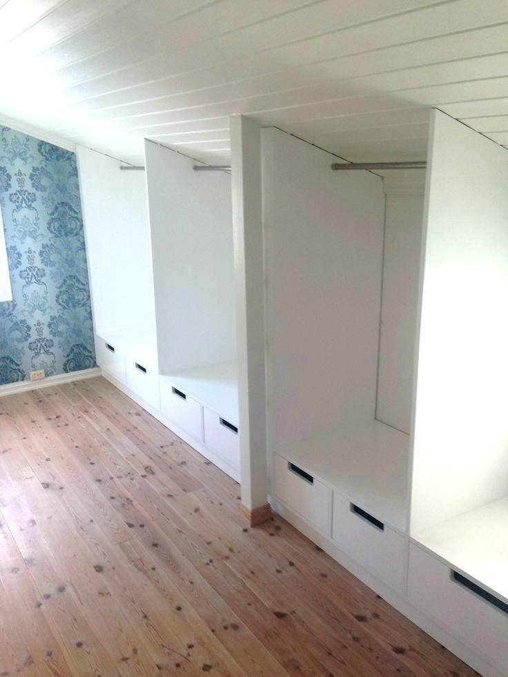 Slanted Attic Closet Ideas Sloping Ceiling Wardrobe Closet ...