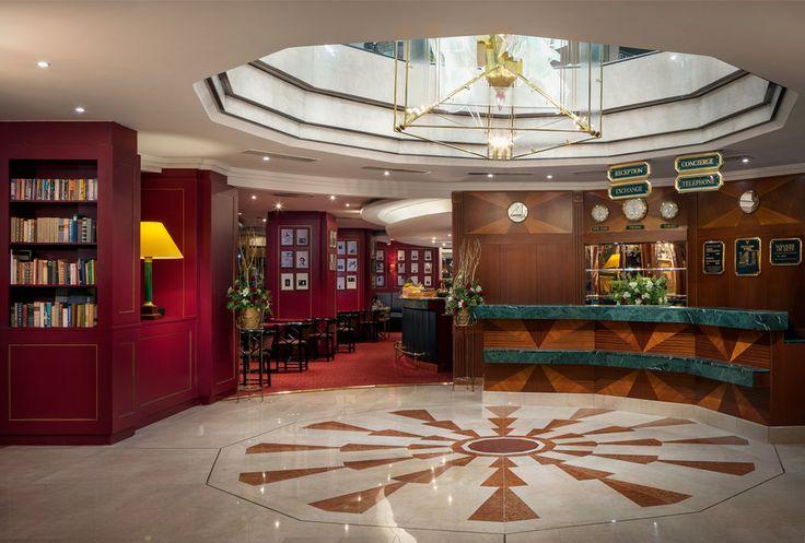Lobby in hotel Art nouveau Palace Prague
