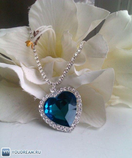 """Ожерелье с голубым бриллиантом """"Сердце Океана"""". фото"""
