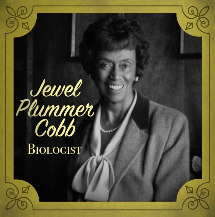 Jewel researched ways to alter cell growth AND experimented with growing human tumor tissue outside of the human body to use for cancer treatment tests (instead of testing on living people). As if that wasn't enough, she also helped to form the National Science Foundation's Committee on Women and Minorities in Science.