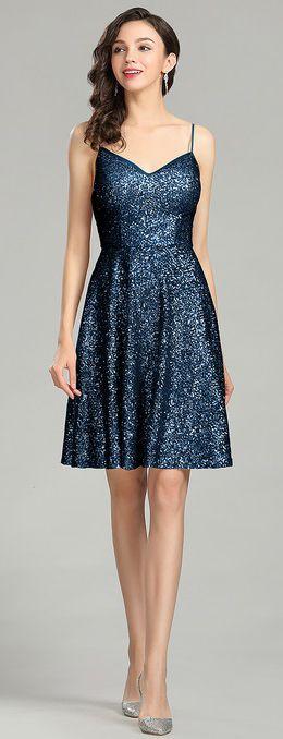 eDressit Blue Sequin Cocktail Dress Evening Wear