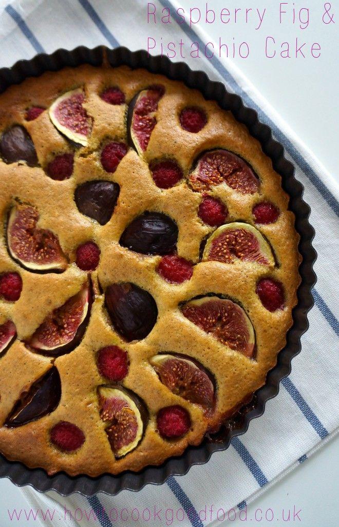 Raspberry, Fig & Pistachio Cake from @Laura_HowToCook #FourSeasonsFood #GettingFruity
