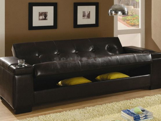 This Cool Coaster 300143 Dark Brown Loaded Storage Futon Sofa Bed Will Be A Welcome Addition