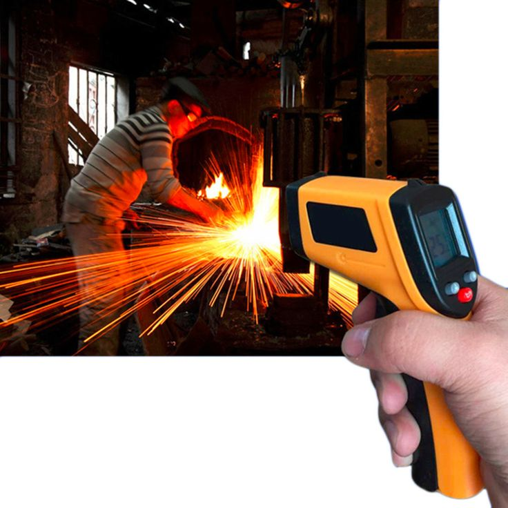 1 Pcs GM320 Laser LCD Digital IR Infrared Thermometer Suhu Meter Gun Titik-50 ~ 330 Derajat Non-kontak Termometer