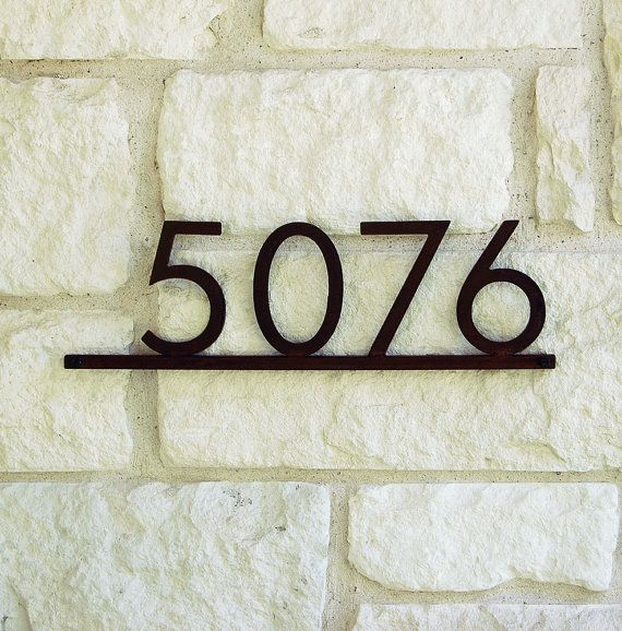 1000 images about house numbers on pinterest mid for Mid century modern address numbers