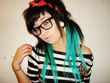 170 best hair extensions images on pinterest hair extensions black scene hair w teal extensions pmusecretfo Gallery