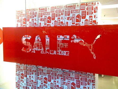 Puma Store sales sign