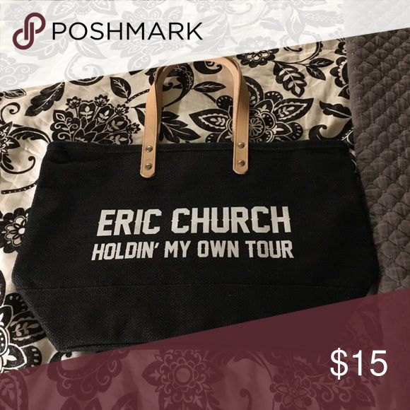Eric Church tour merch bag Small beach bag. Received with tickets I bought to Eric Church concert. Bags Totes