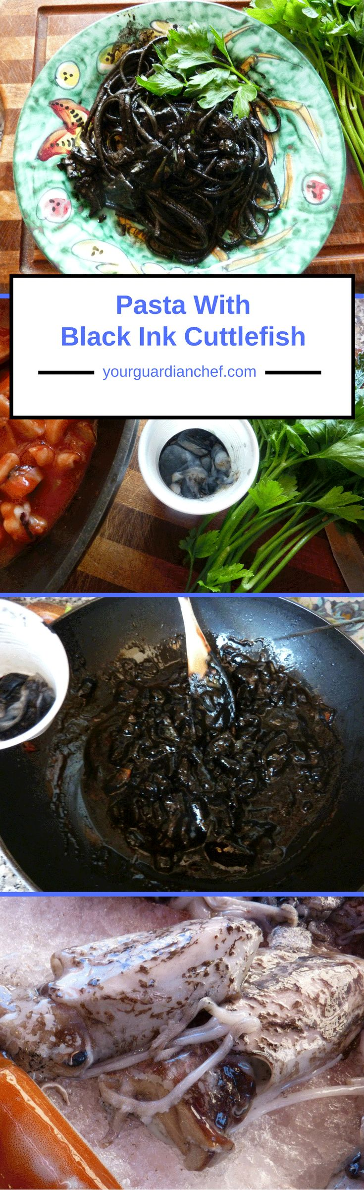 Pasta With Black Ink Cuttlefish an Italian classic - Your Guardian Chef #tradition #Italian #seafood #blackink