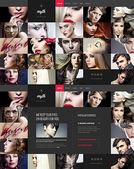 Website Template #46078 by Delta - Bootstrap and Ajax but completely JS. Interesting gallery movement - $64.