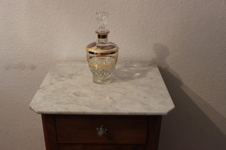 Vintage Flaschen - vintage Glaskaraffe Goldrand - ein Designerstück von Pfaennle bei DaWanda