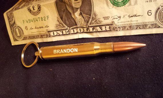 3006 Bullet Bottle Opener Engraved Keychain Groomsmen by MRPens