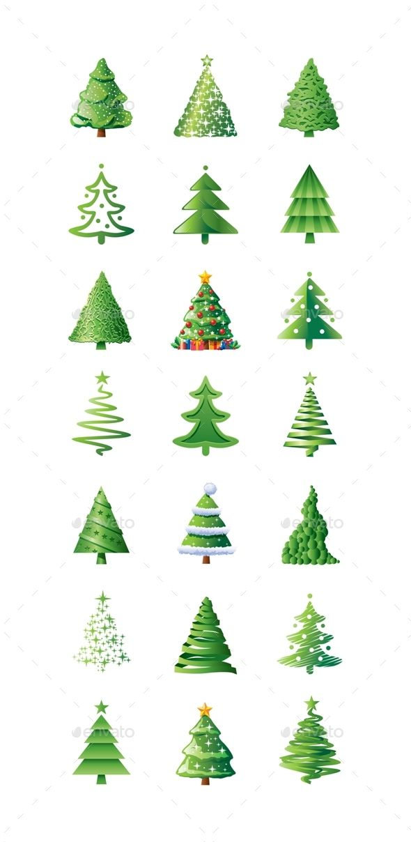 Christmas Trees Icons Icon Design Christmas Tree Tree Icon