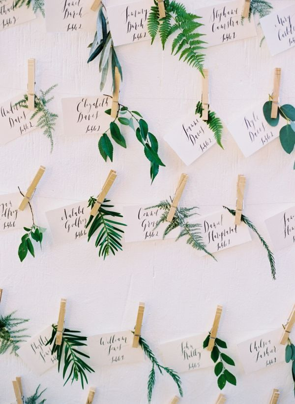 summer wedding escort cards