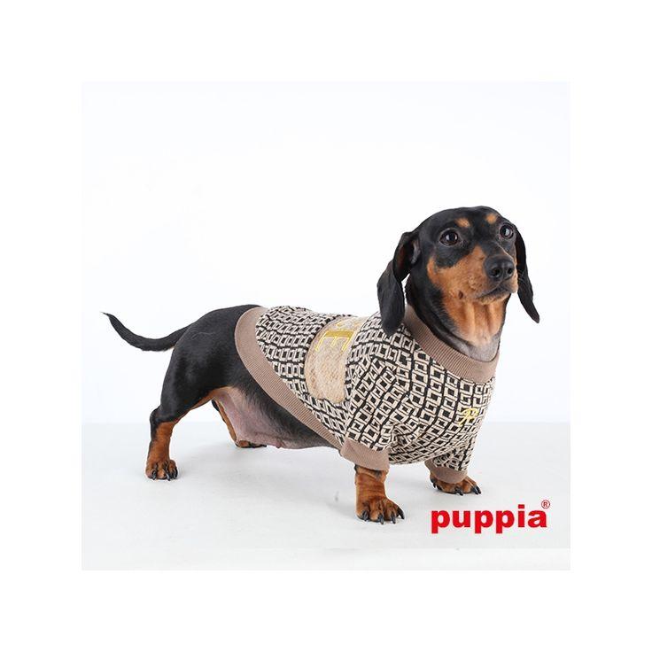 Jersey/sudadera PEACEKEEPER BEIG con cuello redondo y mangas en color beige de la marca Puppia, cómodo y fácil de limpiar. bit.ly/1L8PzCA