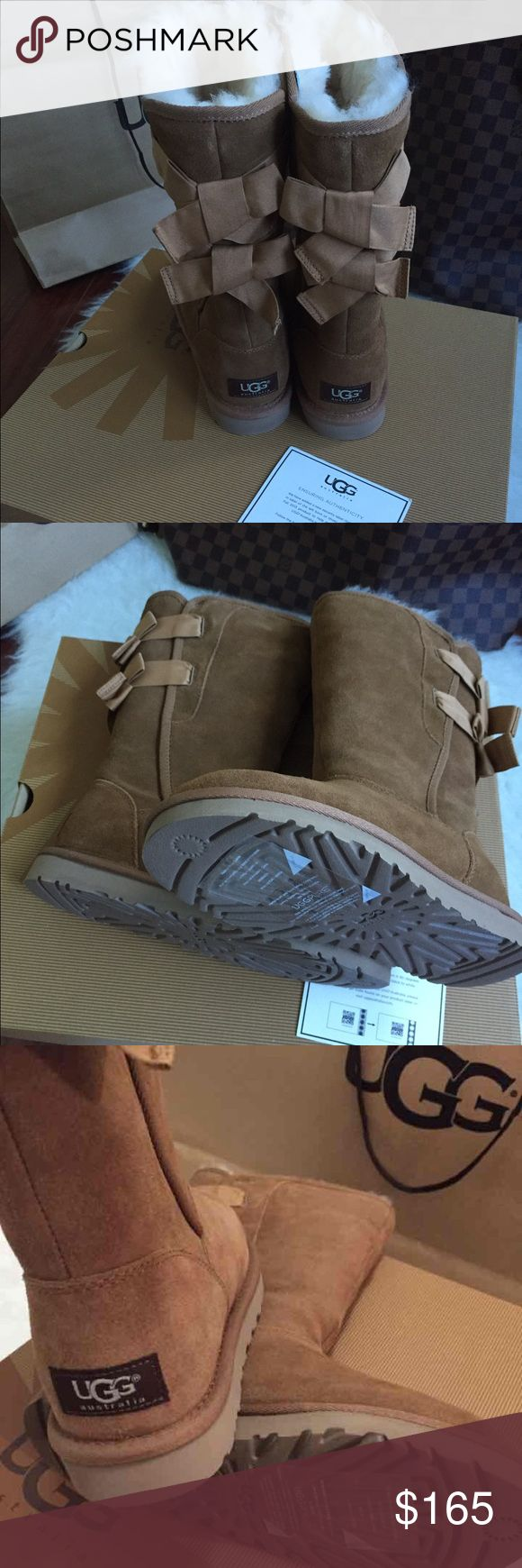 UGG Women EVERLEIGH boots New with tag and box .100% authentic and scannable .waterproof and easy to clean with UGG cleaners. These beauties were purchased at an UGG store and the receipt is available.please no trade questions and only reasonable offers .Be ready this winter in your UGG's UGG Shoes Winter & Rain Boots