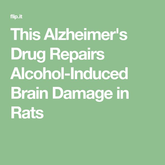 This Alzheimer's Drug Repairs Alcohol-Induced Brain Damage in Rats