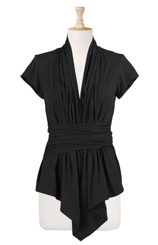 Sash Waist Tunic by eShakti.com (sizes 0-26, customizable length & sleeves)