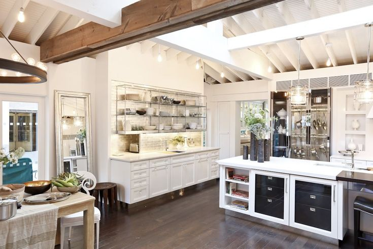 House Beautiful Kitchens emtek's georgetown crystal knob was featured in house beautiful's