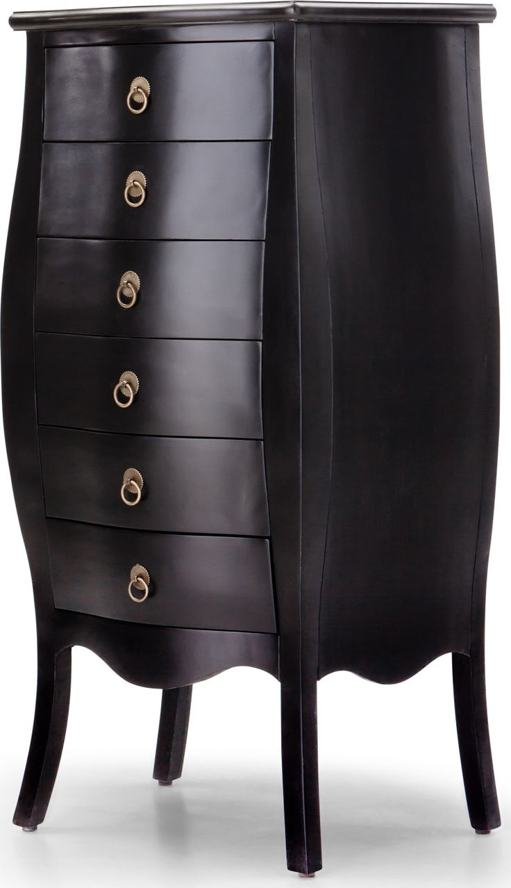 bourbon tallboy chest of drawers black from madecom express delivery a