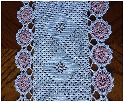 1000 images about crocheted table runner on pinterest for Chemin de table crochet