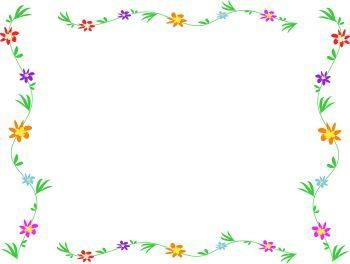free simple flower page border design | most viewwd ...