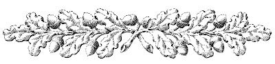 Vintage Fall Clip Art - Ornamental Oak Branches - The Graphics Fairy