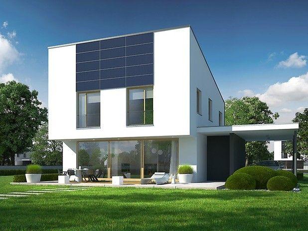 To propozycja dla inwestorów, którzy cenią niebanalną architekturę i codzienną wygodę. Intrygująca bryła budynku z ciekawą linią zadaszenia zachwyca lekkością formy. Nowoczesna kompozycja elewacji stanowi doskonałe dopełnienie całości.