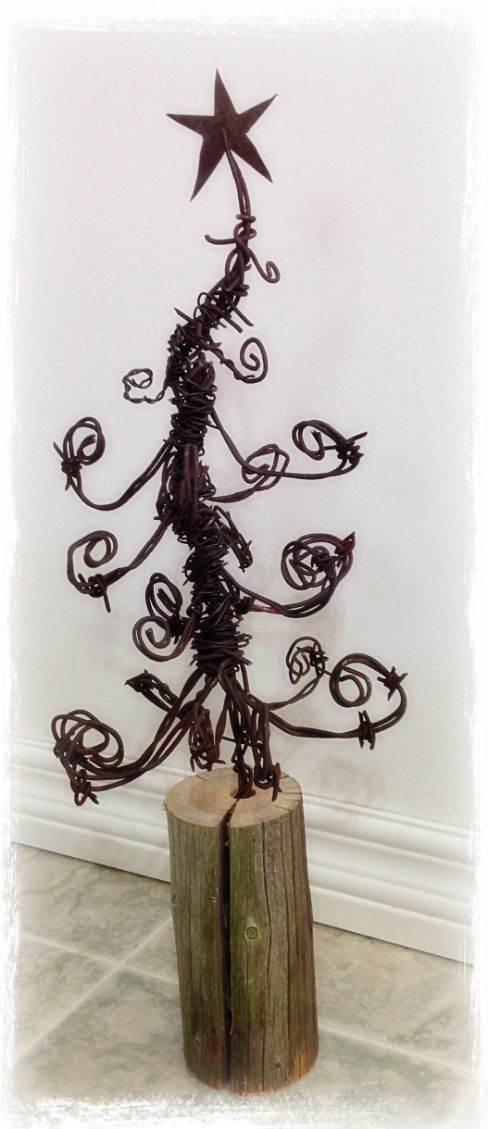 Barbwire Christmas tree