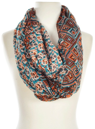 colourful skull scarf